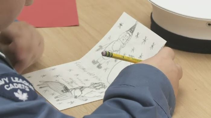 Cadets write Christmas cards to Canadian armed forces members in Yorkton