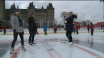 Trying out the Canada 150  rink
