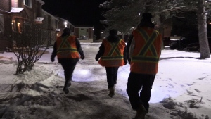 The Thunder Bay Bear Clan Patrol walks through the streets of Thunder Bay, Ont. in search of vulnerable people who need help.