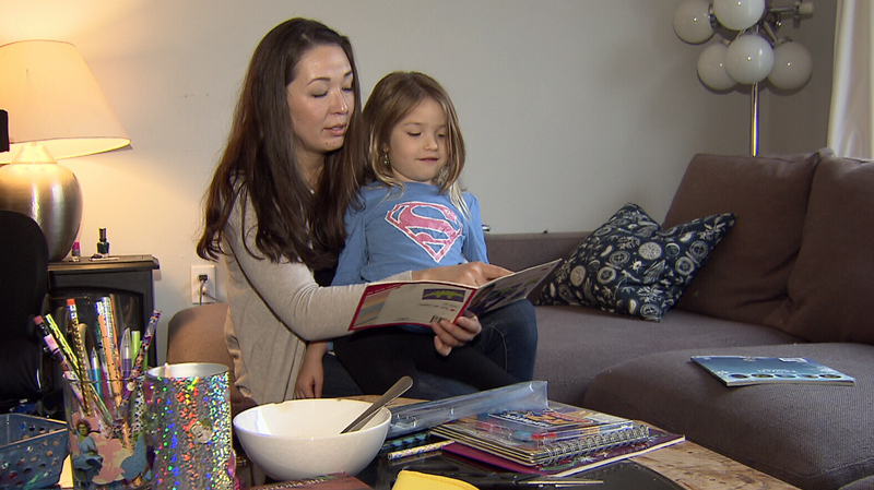 Karolina Figarski says it's unbearable watching her daughter Olivia's spinal muscular atrophy progress while they wait to find out if they'll be covered for treatment.
