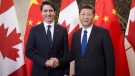 Prime Minister Justin Trudeau meets Chinese President Xi Jinping at the Diaoyutai State Guesthouse in Beijing, China on Dec. 5, 2017. (Sean Kilpatrick / THE CANADIAN PRESS)