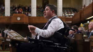 Disabilities Minister Kent Hehr is shown during Question Period in the House of Commons in Ottawa, Thursday, Dec. 7, 2017. (THE CANADIAN PRESS/Fred Chartrand)