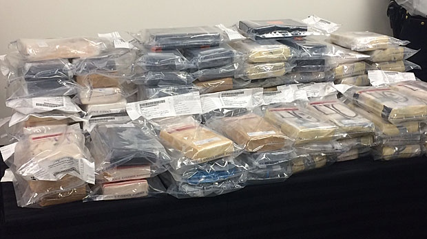 Cocaine bust at Alberta border tops one year's worth of Edmonton seizures