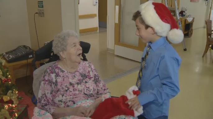 This is Vitali's second year giving to residents of a Dartmouth seniors complex.