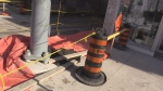 Emergency construction upsets business owner