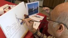 Artist Stephen Myers has Alzheimer's disease