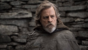 This image released by Lucasfilm shows Mark Hamill as Luke Skywalker in 'Star Wars: The Last Jedi,' in theaters on Dec. 15. (John Wilson/Lucasfilm via AP)