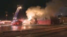 Firefighters responded to a large blaze at Roman's Family Restaurant on Saturday, December 9, 2017.