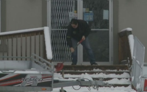 Roughly 11 centimetres of heavy, wet snow blanketed New Brunswick overnight, leaving residents to the inevitable first shovel of the season.
