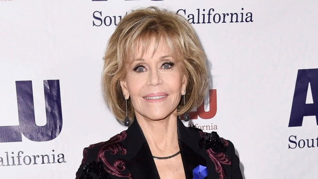 In this Dec. 3, 2017 file photo, Jane Fonda attends the 2017 ACLU SoCal's Bill of Rights Dinner in Beverly Hills, Calif. Fonda used her 80th birthday celebration to raise US$1.3 million for her foundation. (Photo by Richard Shotwell/Invision/AP, File)