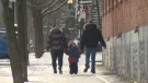Collective for Quebec without Poverty estimates that some 800,000 Quebecers, including families, struggle to meet their basic needs. The provincial government hopes to decrease this number by 100,000 by 2023. (CTV Montreal)