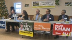 Five of the seven candidates attended the event to pitch their platforms to the community.