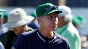 FILE - In this March 17, 2015, file photo, Detroit Tigers assistant to the general manager Alan Trammell ilooks on before a spring training exhibition baseball game against the Washington Nationals in Lakeland, Fla.