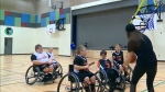 Wheelchair basketball players back in action