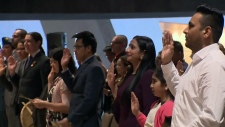 Double the celebration for 48 new Canadians