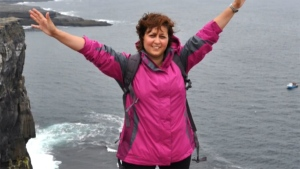 Anne-Marie Cerato, who was diagnosed with terminal lung cancer years ago, is seen in a photo from her travels.