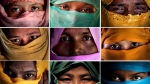 This combo photo comprises of portraits of some of the Rohingya Muslim women taken during an interview with The Associated Press in November 2017 in Kutupalong and Gundum refugee camp in Bangladesh. (AP Photo/Wong Maye-E)