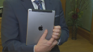 Brad Wall has been reunited with an iPad he lost two years ago.
