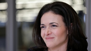 In a Feb. 3, 2015, file photo, Facebook chief operating officer Sheryl Sandberg is photographed at the company's headquarters in Menlo Park, Calif. (AP Photo/Eric Risberg, File)
