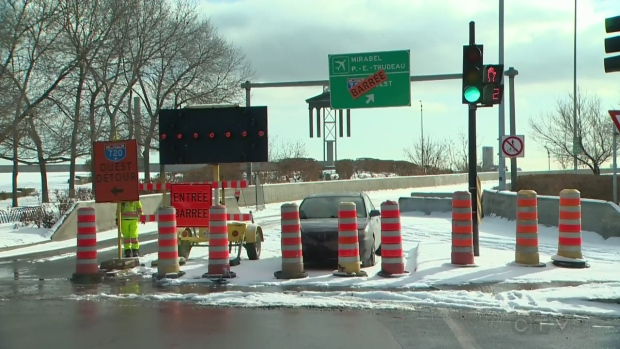 The Fort St. entrance to the 720 West is closed until at least 2019
