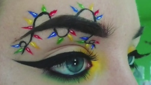 Trending: Christmas Tree Eyebrows