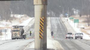 Transport kills pedestrian on Regional Road 55