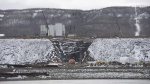 The Site C Dam location is seen along the Peace River in Fort St. John, B.C., on April 18, 2017. THE CANADIAN PRESS/Jonathan Hayward