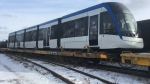 A vehicle for the Ion light rail transit system is seen in Kitchener on Thursday, Dec. 7, 2017. (Dan Lauckner / CTV Kitchener)