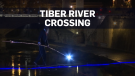 Man walks across Tiber River on 135-metre cable