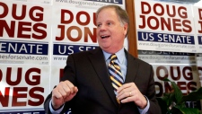 Democratic senatorial candidate Doug Jones speaks during a campaign rally Sunday, Dec. 10, 2017, in Birmingham, Ala. (AP Photo/Brynn Anderson)