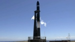 The Electron rocket, 'Still Testing' is prepared for launch on the Mahia Peninsula, New Zealand on Tuesday, Dec. 12, 2017.  (Rocket Lab)