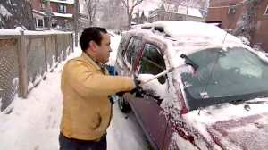 Toronto was hit with its first major snowfall on Monday night and police are urging caution on snowy GTA roadways.