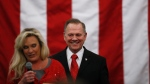 U.S. Senate candidate Roy Moore speaks at a campaign rally, Monday, Dec. 11, 2017, in Midland City, Ala. (AP Photo/Brynn Anderson)