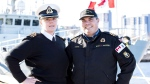 Victoria and Chris Devita, both lieutenant commanders with the navy, are shown in this handout image on November 23, 2017. (THE CANADIAN PRESS/HO-Maritime Forces Pacific-Mona Ghiz)