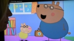 An episode of British animated series Peppa Pig involving the character Dr. Brown Bear. (Daniel Sorabji/AFP)