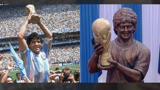 'Looks like Susan Boyle': Statue of soccer great Diego Maradona ridiculed online