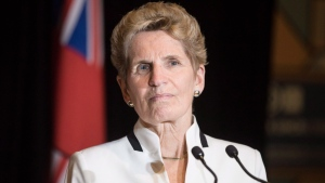 Ontario Premier Kathleen Wynne at the Confederation of Tomorrow 2.0 Conference in Toronto on Tuesday December 12, 2017. (THE CANADIAN PRESS/Chris Young)