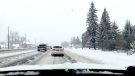 Slippery roads after first snowfall