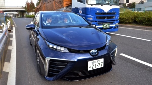 The Mirai was Toyota's first mass-market hydrogen fuel-cell car. (AFP PHOTO / Yoshikazu TSUNO)