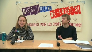 The Regroupement des comités logement et associations de locataires du Quebec (RCLALQ) is fighting the eviction of multiple tenants in CDN-NDG.