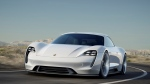 The Porsche Mission E is shown in this promotional image. (Newspress/Porsche)