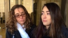The Vetor family spoke to reporters outside of a Windsor court on Tuesday, Dec. 12, 2017. (Teresinha Medeiros / AM800)