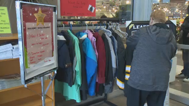 Pop-up coat racks are appearing in Halifax and Dartmouth for those in need.