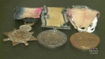 A war museum in petitcodiac, N.B., is trying to track down family members of J.J. Jenks, who they say was awarded these medals following the First World War.