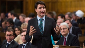 Prime Minister Justin Trudeau responds to a question during question period in the House of Commons on Parliament Hill in Ottawa on Tuesday Dec. 12, 2017. (THE CANADIAN PRESS / Sean Kilpatrick)