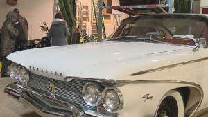 The restored 1960 Plymouth Fury was hidden in a storage facility before the big reveal.