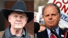 Roy Moore and Doug Jones are seen in this composite image. (AP Photo)