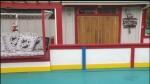 Hockey fan cave