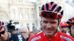 In this Sunday, Sept. 10, 2017 file photo, Britain's Chris Froome smiles after winning the Spanish Vuelta cycling race, in Madrid. (AP / Francisco Seco)