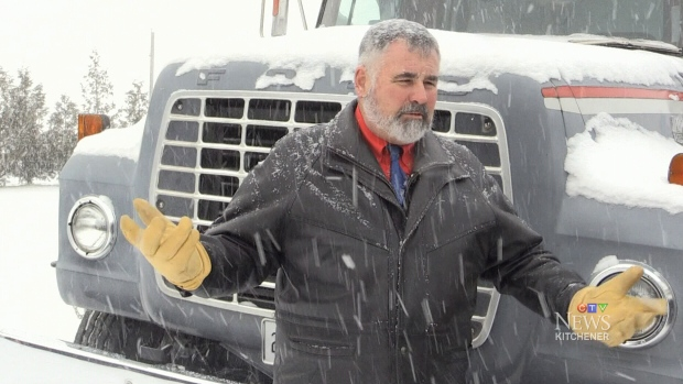 Mark Hoffman, of New Hamburg, Ont., was ticketed after delivering food donations.